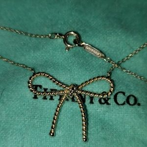 TIFFANY RARE 925 ROPE BOW NECKLACE